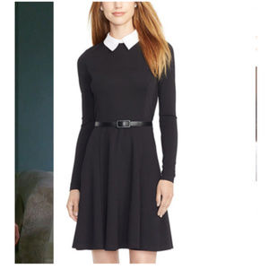 Ralph Lauren Black Dress White Collar